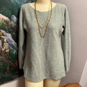 Halogen Cashmere grey sweater